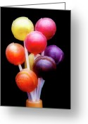Bright Greeting Cards - Lollipop Bouquet Greeting Card by Tom Mc Nemar