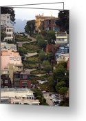 Famous Landmark Greeting Cards - Lombard Street Greeting Card by David Salter