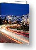 Long Street Greeting Cards - Lombard Street Greeting Card by Phoenix Wang