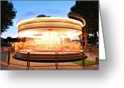Merry-go-round Greeting Cards - London 110 Greeting Card by Lance Vaughn