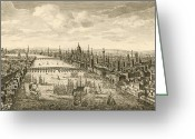 1750s Greeting Cards - London And The Thames, 18th Century Greeting Card by Miriam And Ira D. Wallach Division Of Art, Prints And Photographsnew York Public Library