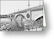 Old Bridge Greeting Cards - London Bridge Lake Havasu City Arizona Greeting Card by Christine Till
