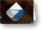 Abstract Building Greeting Cards - London Building Abstract Greeting Card by David Pyatt