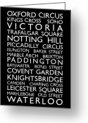 Typography Greeting Cards - London Bus Roll Greeting Card by Michael Tompsett