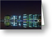 Great Hall Greeting Cards - London by Night Greeting Card by Jaroslaw Grudzinski