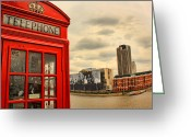 Coronation Greeting Cards - London calling Greeting Card by Jasna Buncic