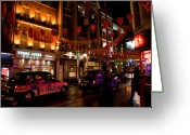 New Britain Greeting Cards - London Chinatown Greeting Card by Peter Verdnik