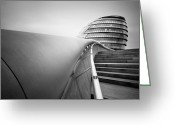 Great Hall Greeting Cards - London City Hall Greeting Card by Nina Papiorek