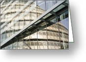 City Hall Greeting Cards - London City Hall Reflection Greeting Card by John Harper