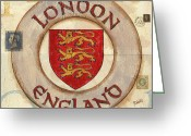 Destination Greeting Cards - London Coat of Arms Greeting Card by Debbie DeWitt