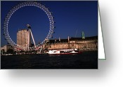 Tourist Pyrography Greeting Cards - London Eye Greeting Card by Afroz Sheikh