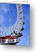 Ferris Wheel Greeting Cards - London Eye Greeting Card by Elena Elisseeva