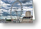Photographer Photographs Photographs Greeting Cards - London Eye Greeting Card by Graham Taylor