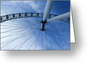 High Wheel Greeting Cards - London Eye Greeting Card by Melissa Petrey