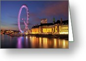 Arts Culture And Entertainment Greeting Cards - London Eye Greeting Card by Stuart Stevenson photography