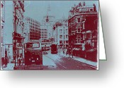 Streets Digital Art Greeting Cards - London Fleet Street Greeting Card by Irina  March