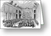 Schoolgirl Greeting Cards - London: Freemasons Hall Greeting Card by Granger