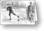 Ice Skater Greeting Cards - London: Ice Skating, 1886 Greeting Card by Granger