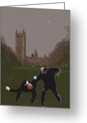Kids Greeting Cards - London Matrix Martial arts Smith Greeting Card by Jasna Buncic