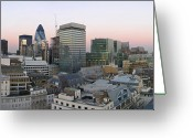 Dusk Greeting Cards - London Panorama From The Monument Greeting Card by Romeo Reidl