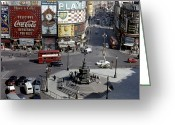 Eros Statue Greeting Cards - London: Piccadilly Circus Greeting Card by Granger