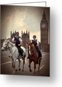 Guards Greeting Cards - London Police Greeting Card by Svetlana Sewell