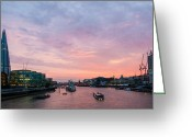 Cityhall Greeting Cards - London Skyline Sunset Greeting Card by Dawn OConnor