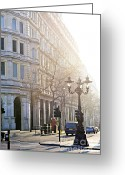 Streets Greeting Cards - London street Greeting Card by Elena Elisseeva