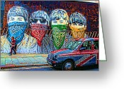 Ringo Greeting Cards - London street Greeting Card by Jasna Buncic
