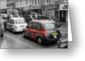 Taxi Cab Greeting Cards - London Taxi  Greeting Card by Stefan Kuhn