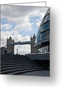 City Hall Greeting Cards - London Tower Bridge Greeting Card by Dawn OConnor