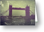 Streets Digital Art Greeting Cards - London Tower Bridge Greeting Card by Irina  March