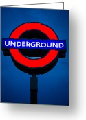 Underground Greeting Cards - London Underground Greeting Card by Inge Johnsson