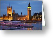 Big Ben Greeting Cards - London View Greeting Card by  Udo Moelzer - www.moelzer.de