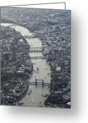 Aerial View Greeting Cards - Londres, London Greeting Card by Mono Andes
