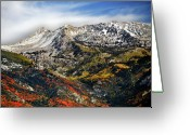 Snowcapped Greeting Cards - Lone Peak Wilderness Area Greeting Card by Utah-based Photographer Ryan Houston