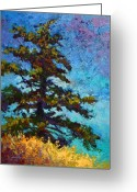 Lakes Greeting Cards - Lone Pine II Greeting Card by Marion Rose