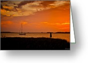 Bonnes Eyes Fine Art Photography Greeting Cards - Lone Sailor Greeting Card by Bonnes Eyes Fine Art Photography
