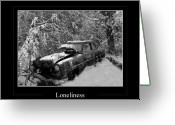 Country Scenes Photographs Greeting Cards - Loneliness Greeting Card by Calum Faeorin-Cruich
