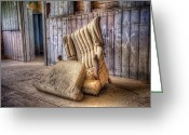 Concrete Greeting Cards - Lonely Chair Greeting Card by Scott Norris