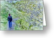 Daylight Greeting Cards - Lonely Path Greeting Card by Jeff Kolker