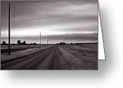 Brian Kerls Greeting Cards - Lonely Road Greeting Card by Brian Kerls