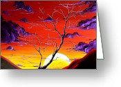 Barren Land Greeting Cards - Lonely Soul by MADART Greeting Card by Megan Duncanson