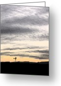 Alto Cumulus Greeting Cards - Lonely Windmill Greeting Card by Mick Anderson