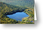 Lonesome Greeting Cards - Lonesome Lake - White Mountains New Hampshire USA Greeting Card by Erin Paul Donovan