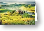 Winding Road Greeting Cards - Long and winding road  Greeting Card by Mo T