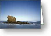 Stack Rock Greeting Cards - Long Exposure Of Charley - Rock Stack Greeting Card by Mark Crocker - images through a lens