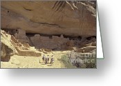 Early American Dwellings Greeting Cards - Long House Ruins Colorado Greeting Card by John  Mitchell