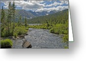 Puffy Greeting Cards - Long Lake in the Indian Peaks Wilderness Colorado Greeting Card by Brendan Reals