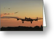 Raf Digital Art Greeting Cards - Long Night Ahead Greeting Card by Pat Speirs